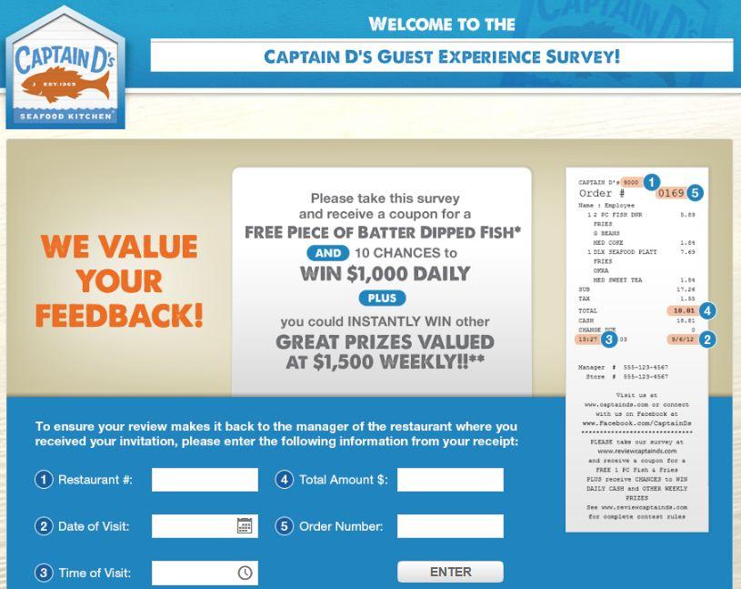Captain D's Survey