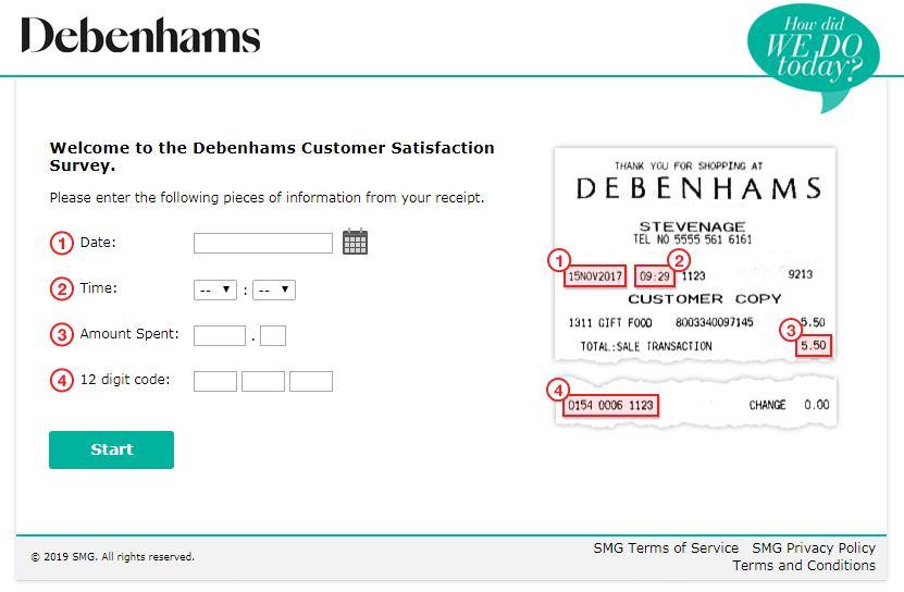 Debenhams Feedback