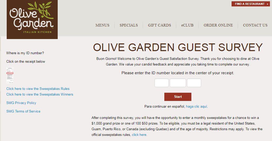 Olive Garden Survey