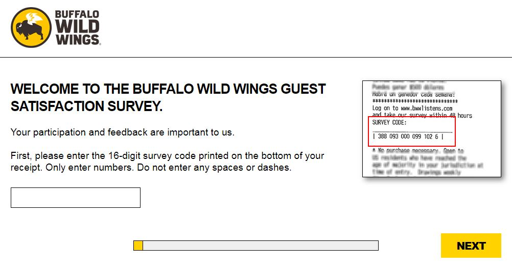 Buffalo Wild Wings Survey