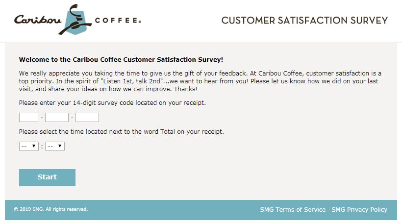 Caribou Coffee Survey
