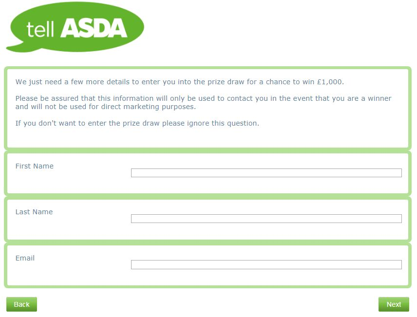 asda survey