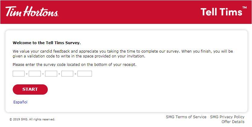 Tim Horton's Survey