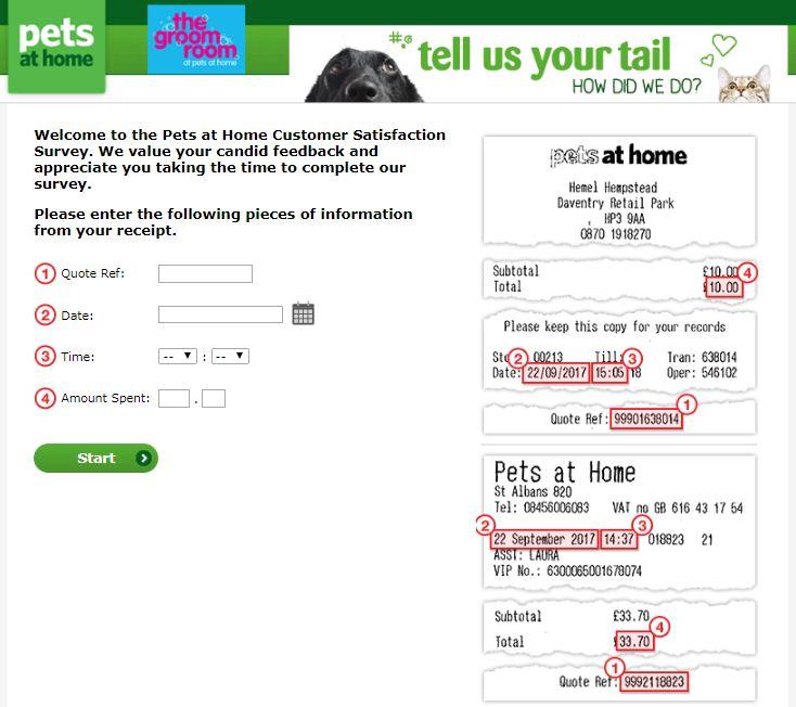 Pets at Home Survey