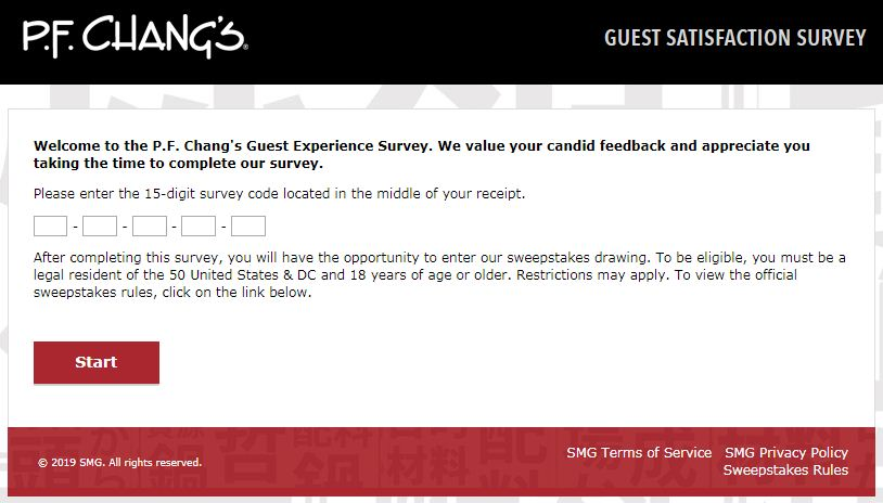 PF Chang's Survey