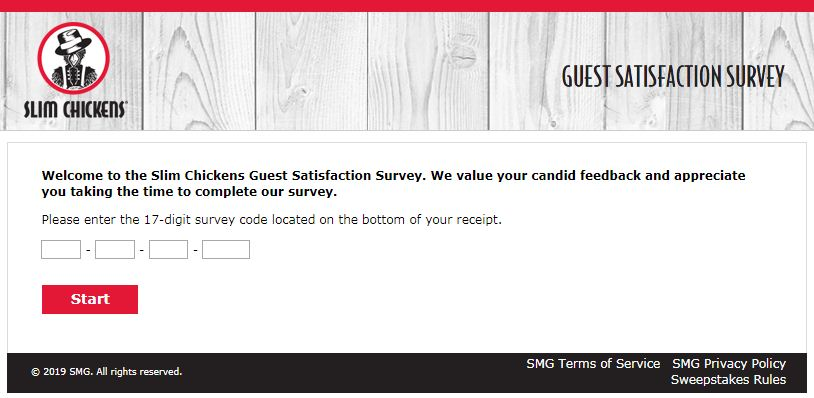 Slim Chickens Survey