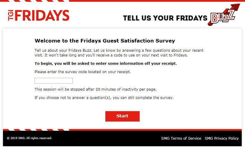 T.G.I. Friday's Survey