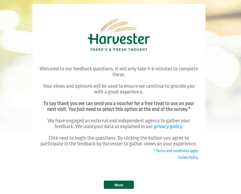 Harvester Survey
