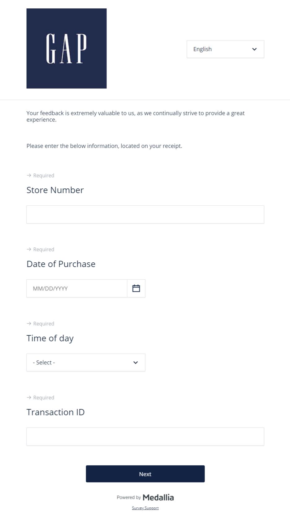 Gap Customer Survey