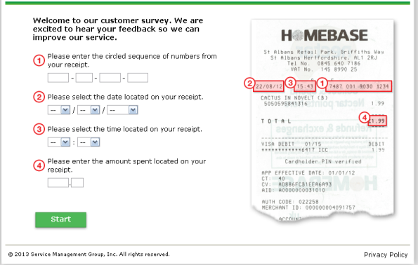 Homebase UK Survey