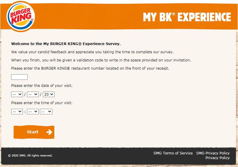 My BK Experience Survey 2020
