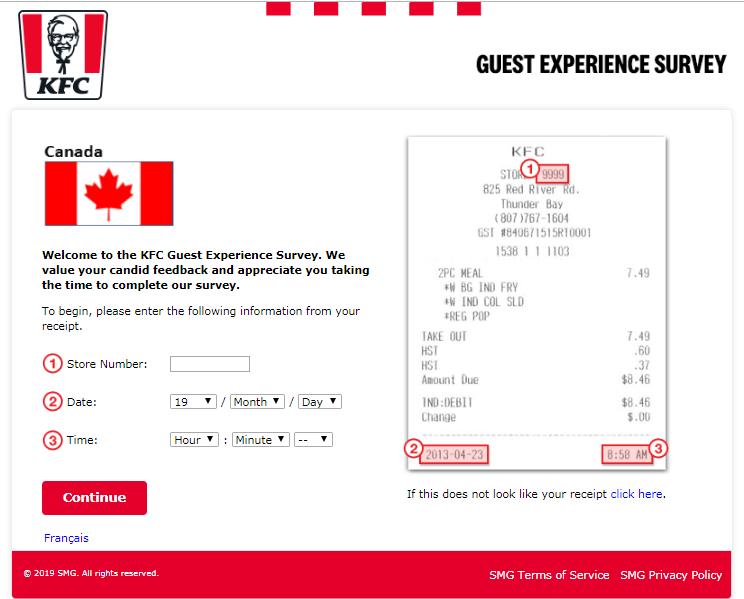 KFC Canada Customer Satisfaction Survey