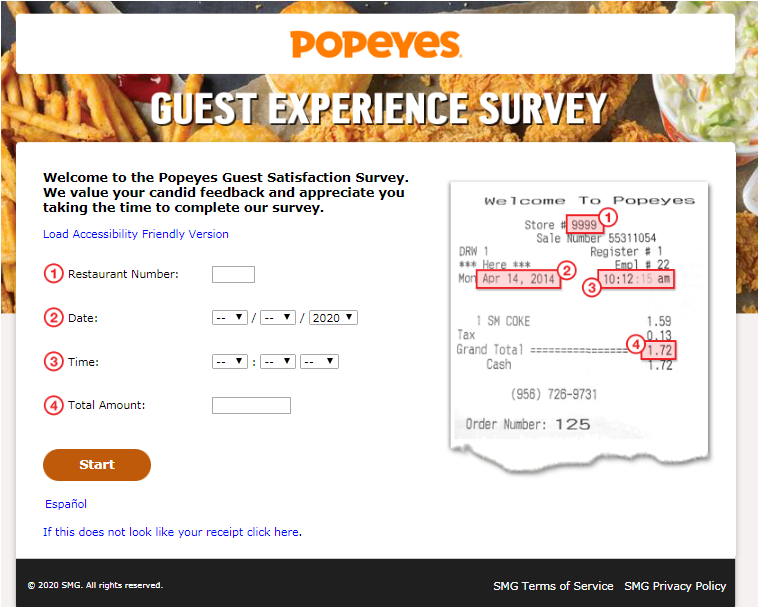 Popeyes Canada Guest Experience Survey