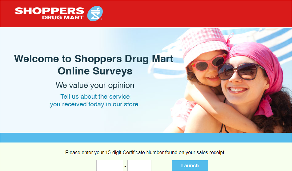 Shoppers Drug Mart Guest Experience Survey