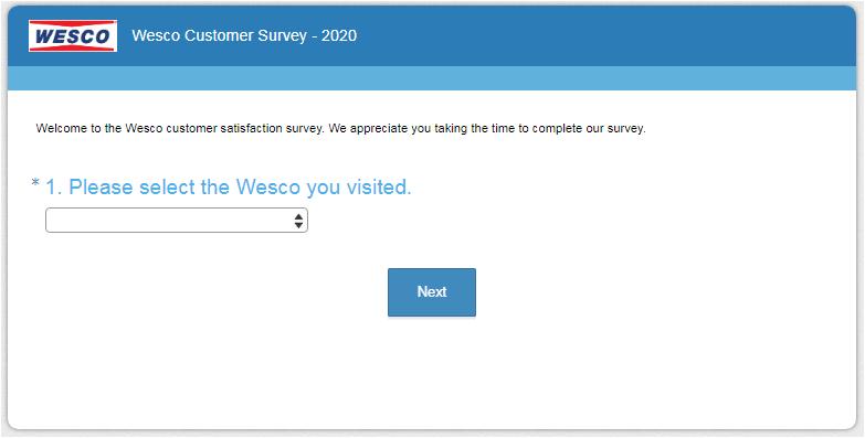 Wesco Guest Satisfaction Survey