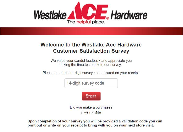 TalkToWestlake Ace Hardware Survey