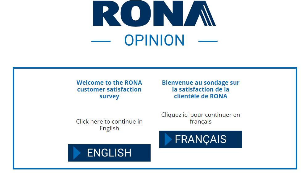 RONA Guest Satisfaction Survey
