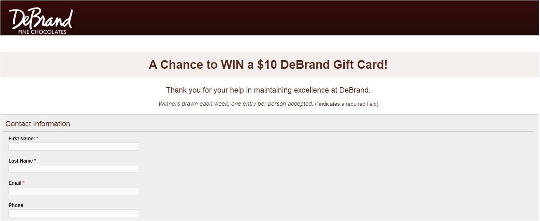 www.debrand.com/survey Homepage
