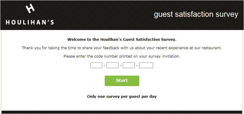 www.houlihansfeedback.com Homepage