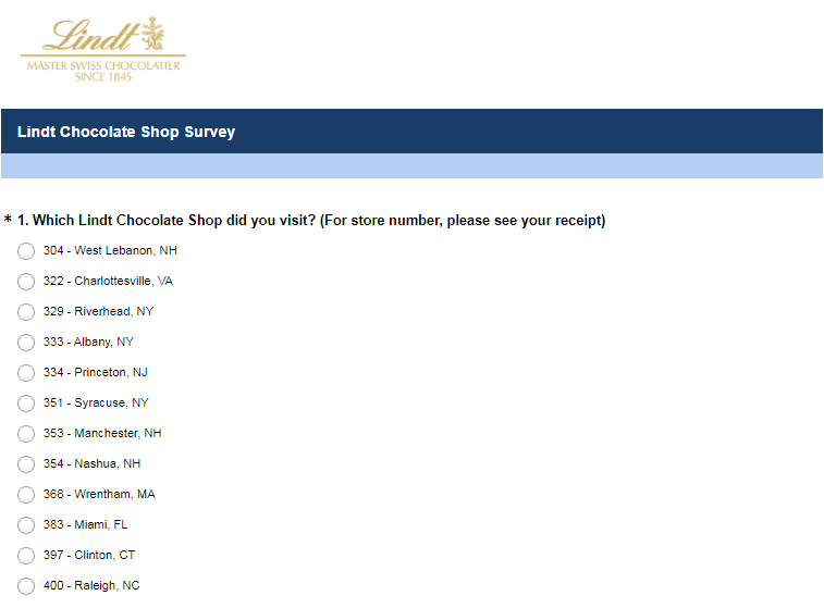 Lindt & Sprüngli Customer Satisfaction Survey