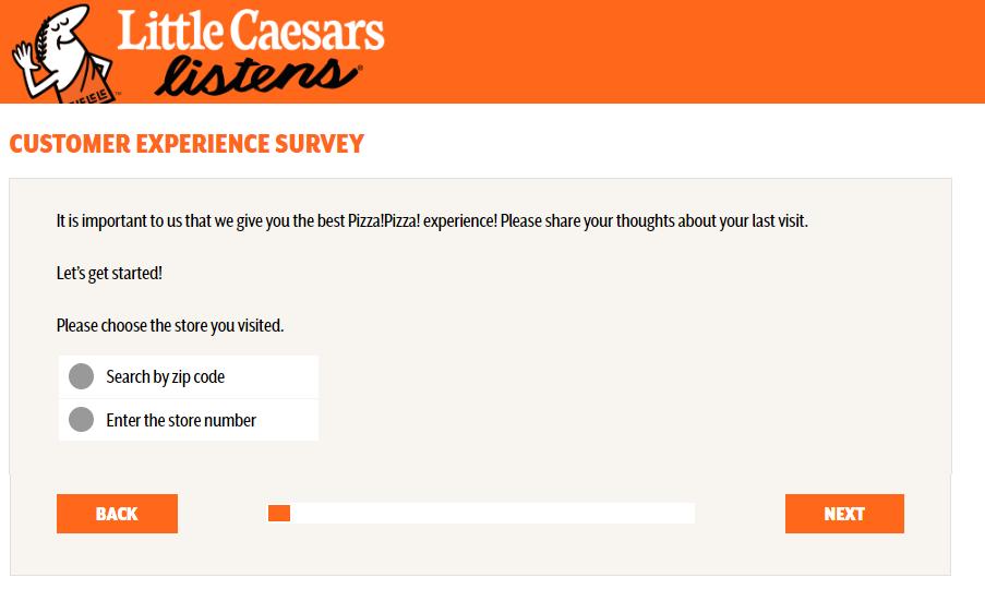 Little Caesars Customer Feedback Survey