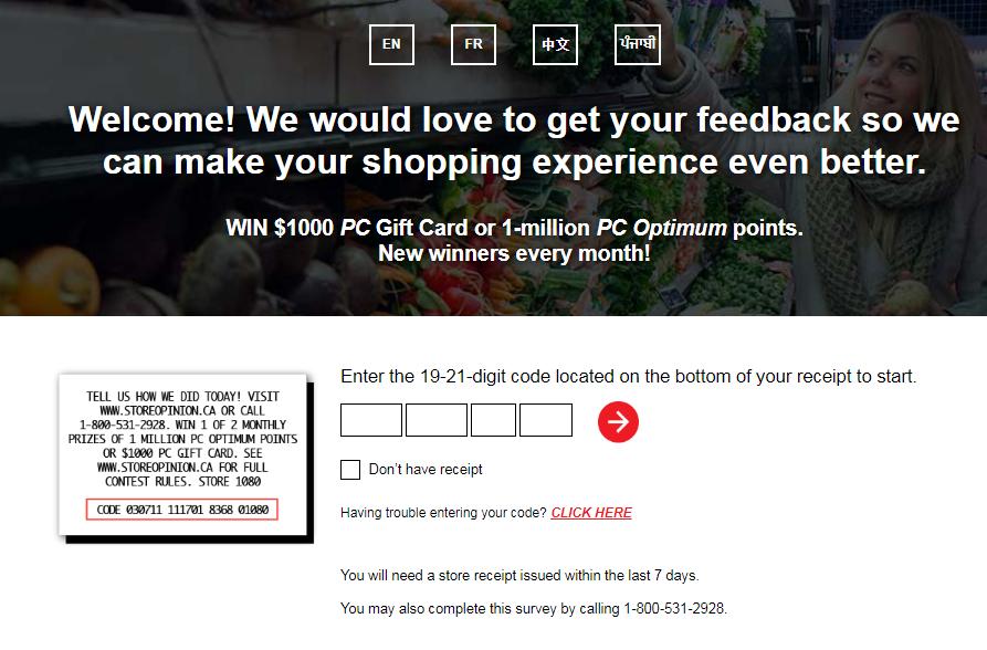 Loblaw Grocery Customer Experience Survey